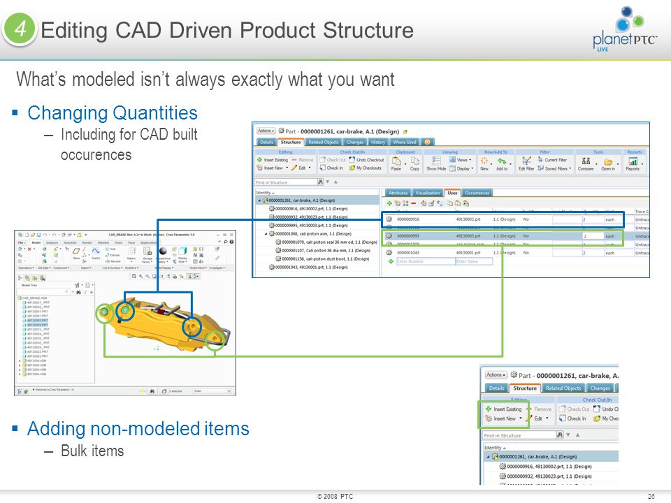 Editing CAD Driven Product Structure
