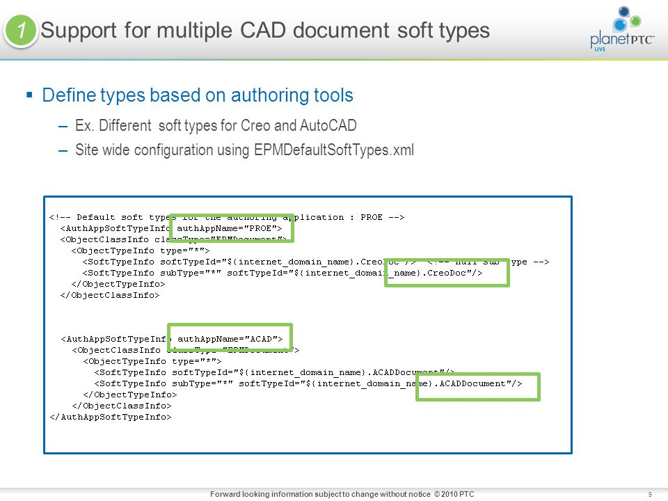 Support for multiple CAD document soft types