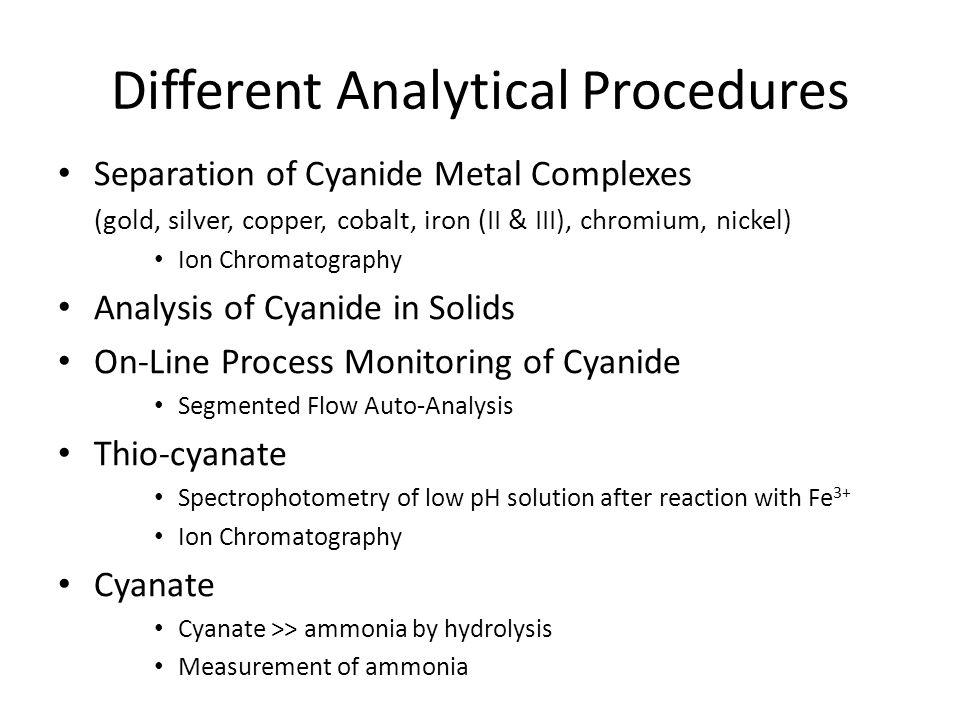 Different Analytical Procedures