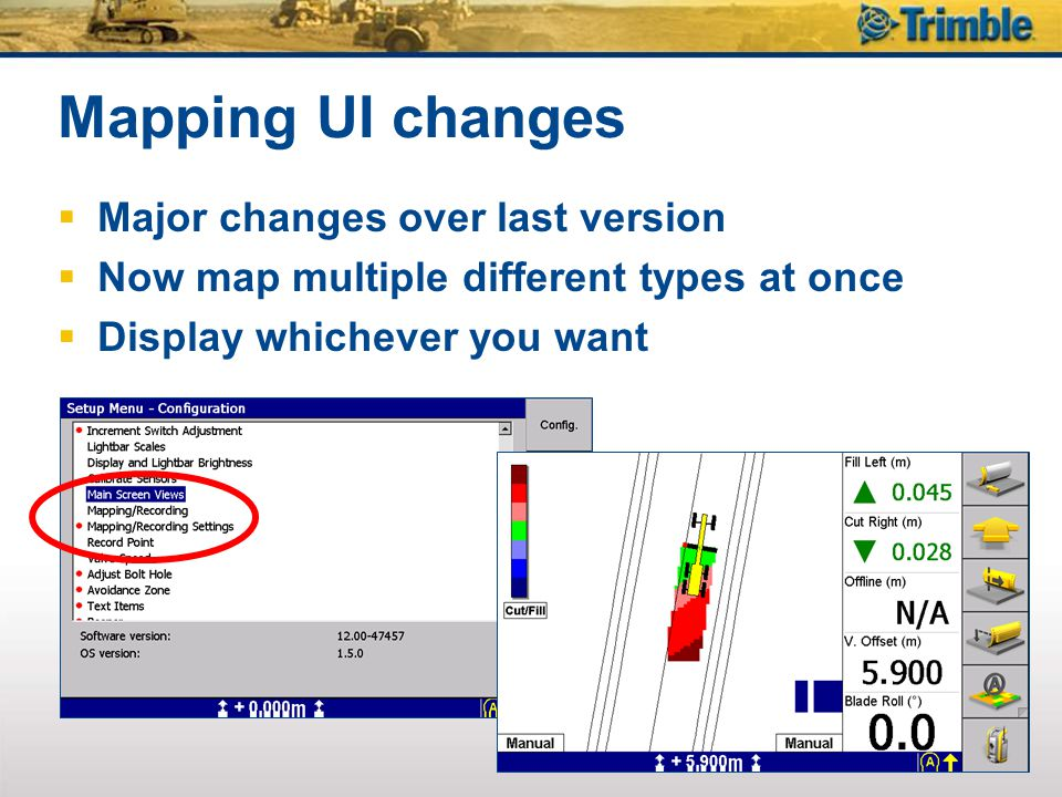 Mapping UI changes Major changes over last version
