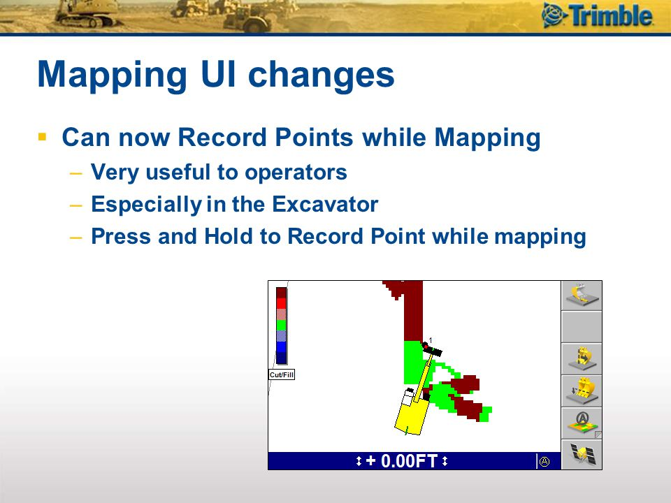 Mapping UI changes Can now Record Points while Mapping