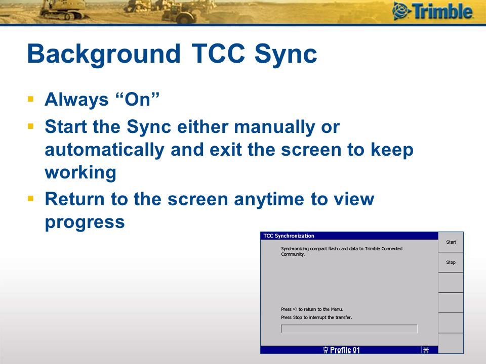 Background TCC Sync Always On
