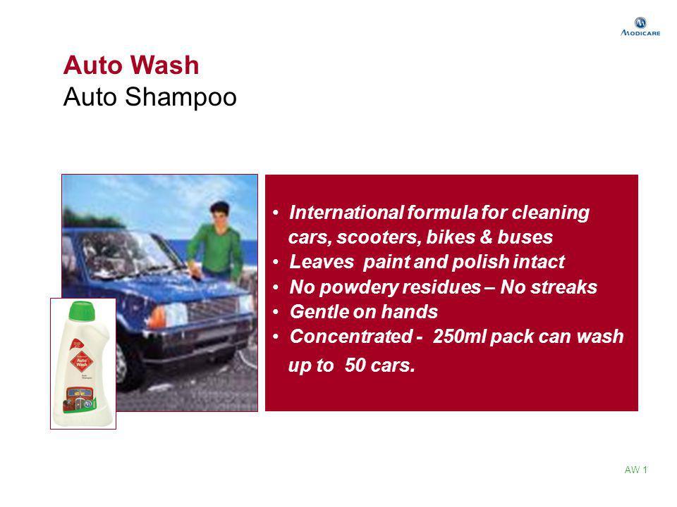 Auto Wash Auto Shampoo International formula for cleaning