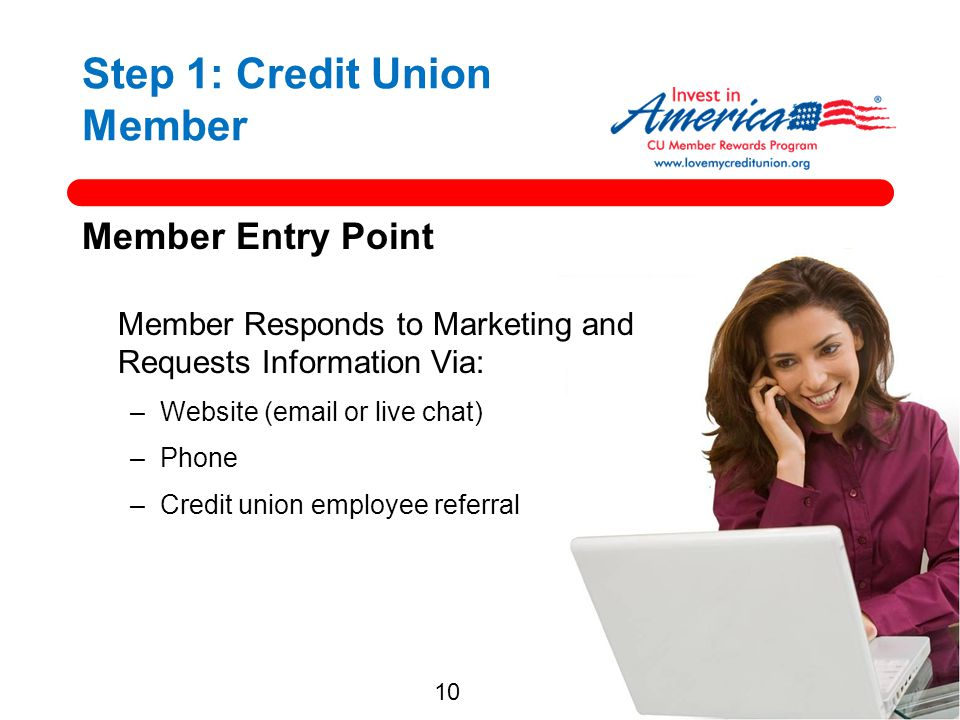 Step 1: Credit Union Member