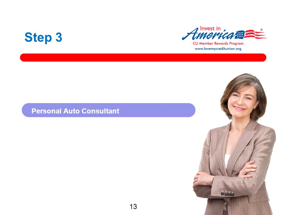 Step 3 Personal Auto Consultant