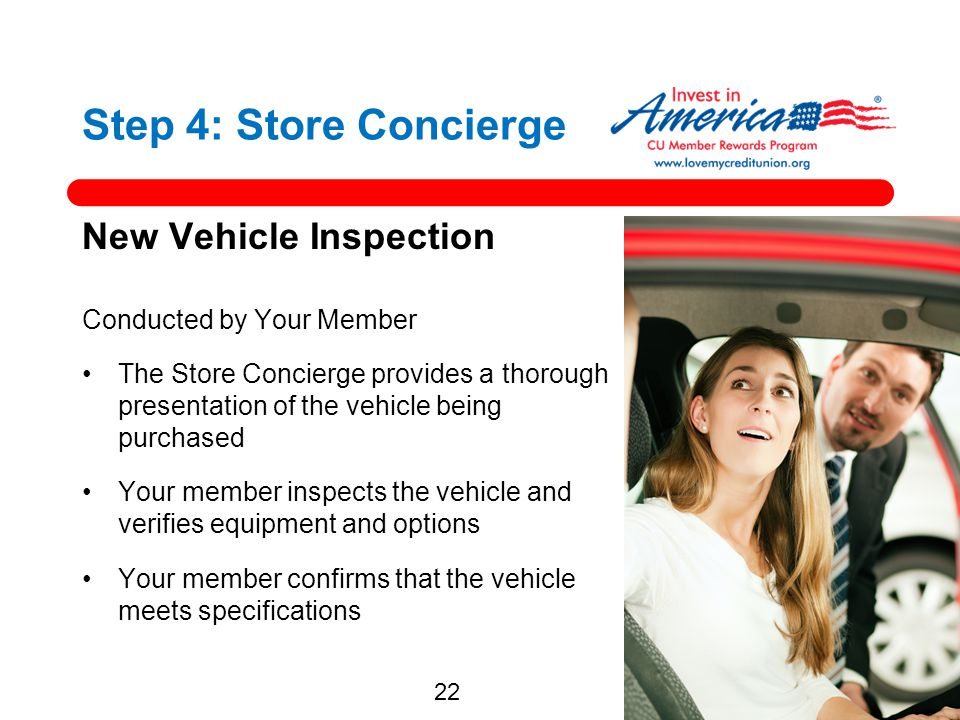 Step 4: Store Concierge New Vehicle Inspection
