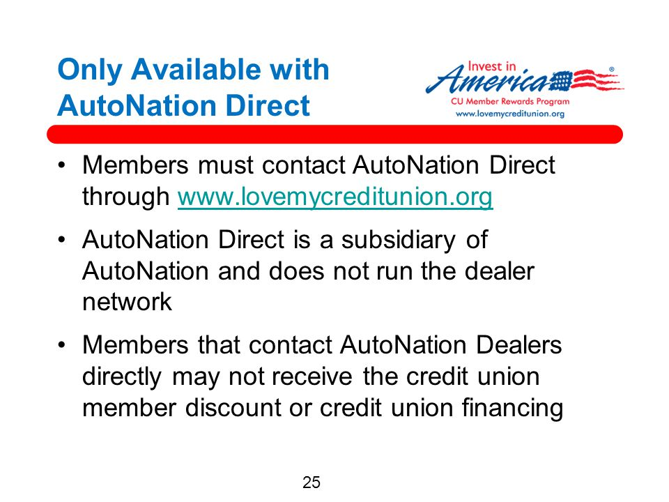 Only Available with AutoNation Direct