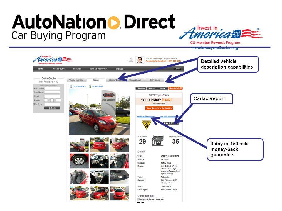 Detailed vehicle description capabilities