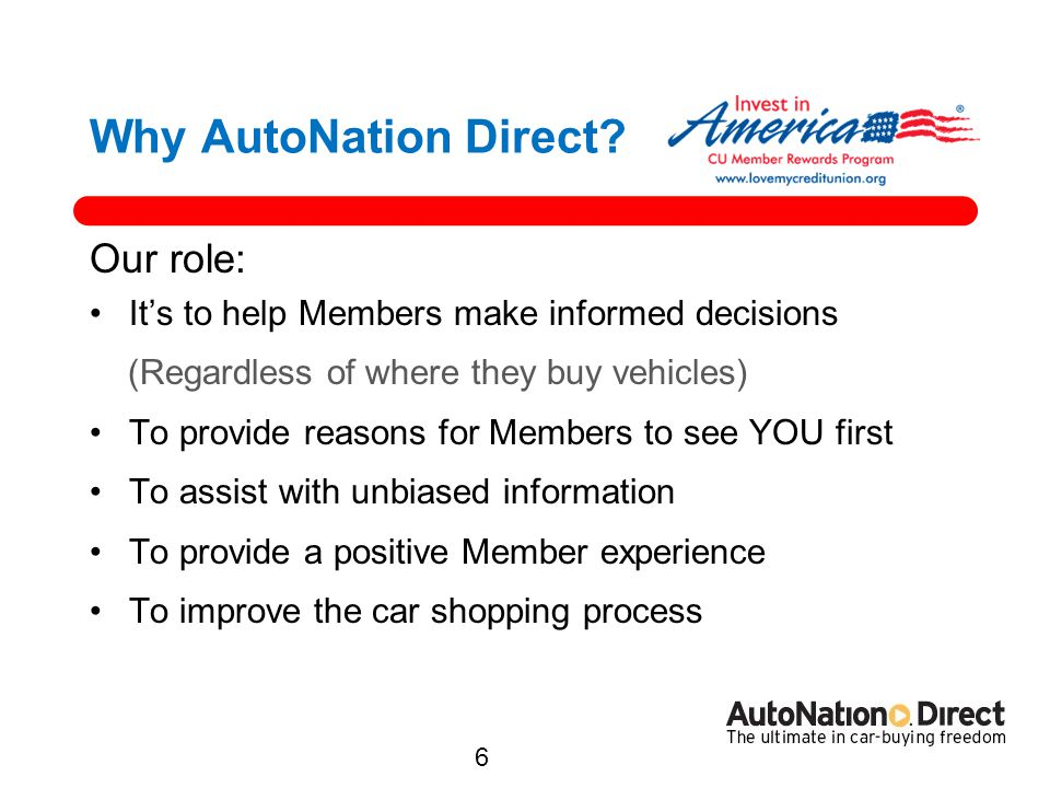 Why AutoNation Direct Our role: