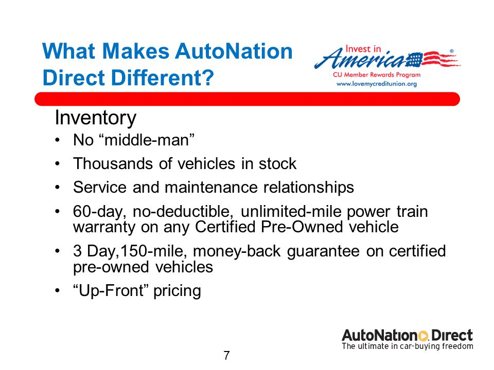 What Makes AutoNation Direct Different