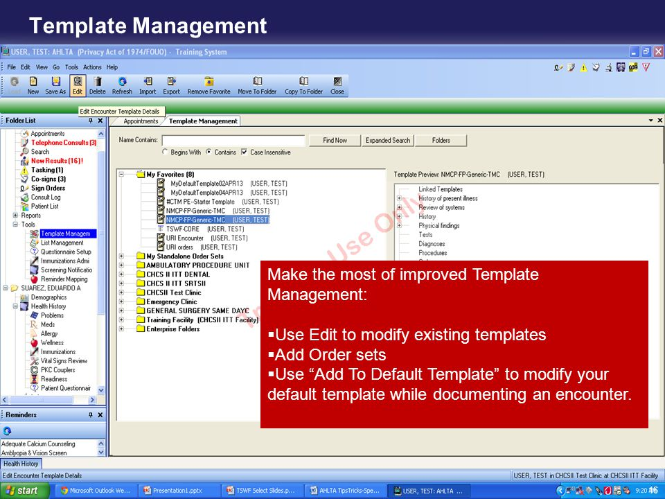 Template Management Make the most of improved Template Management: