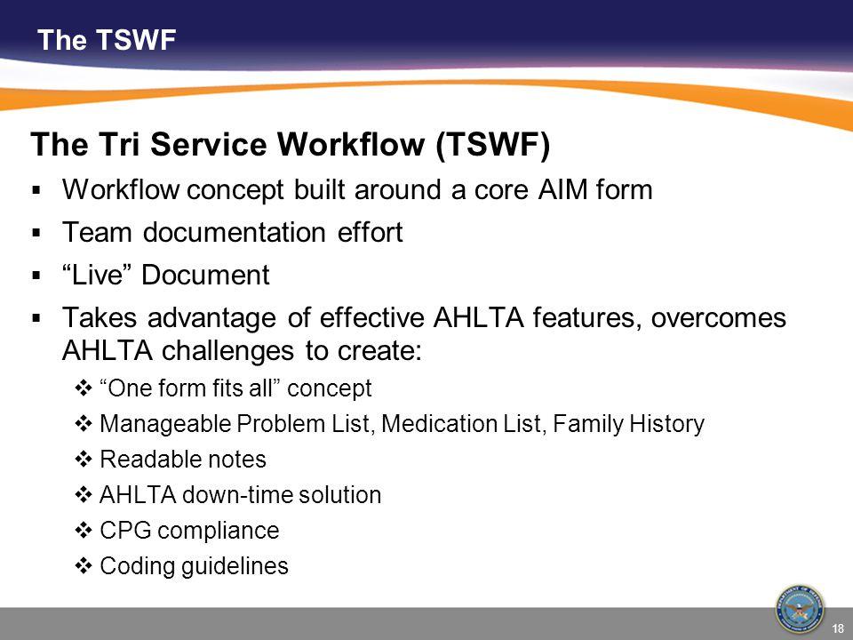 The Tri Service Workflow (TSWF)