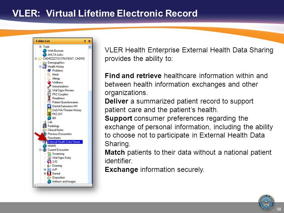 VLER: Virtual Lifetime Electronic Record