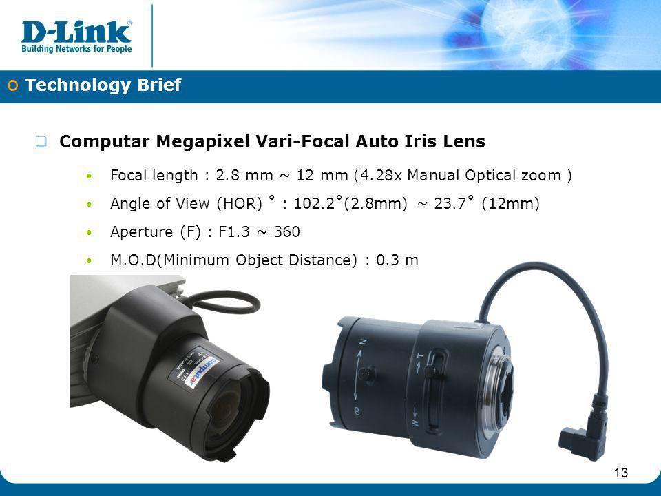 Computar Megapixel Vari-Focal Auto Iris Lens