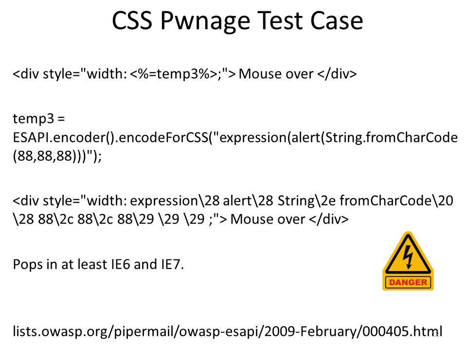 CSS Pwnage Test Case