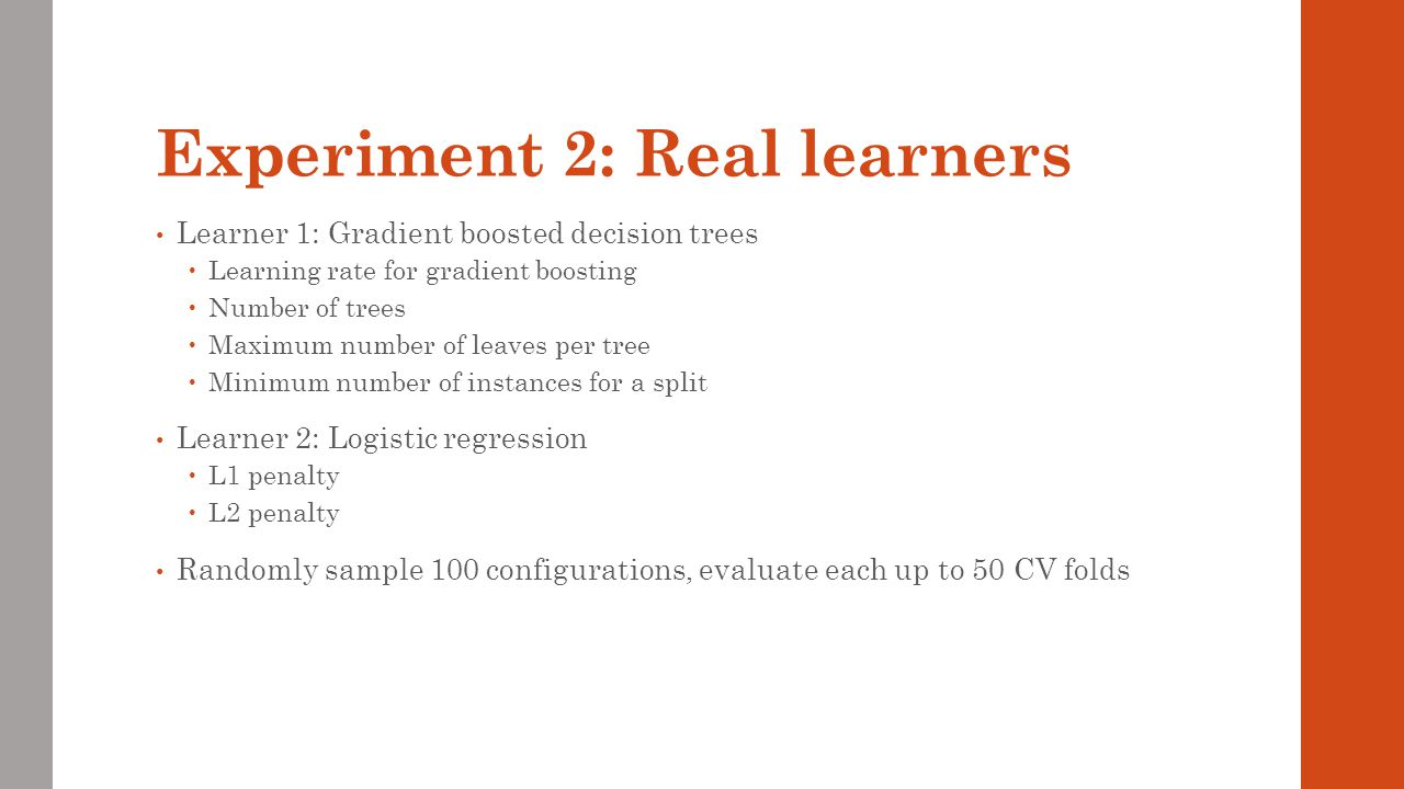 Experiment 2: Real learners