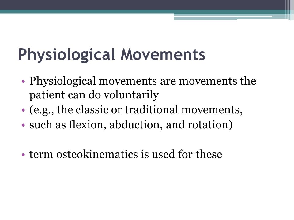 Physiological Movements