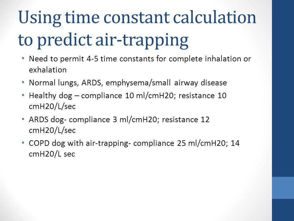 Using time constant calculation to predict air-trapping