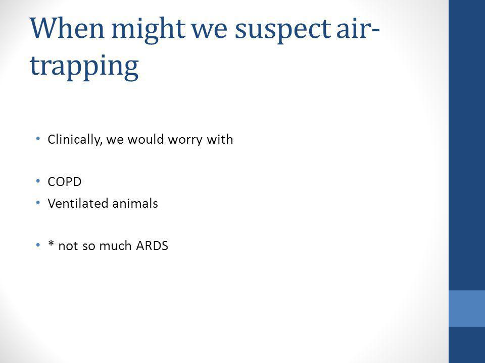 When might we suspect air-trapping