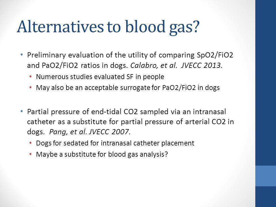 Alternatives to blood gas