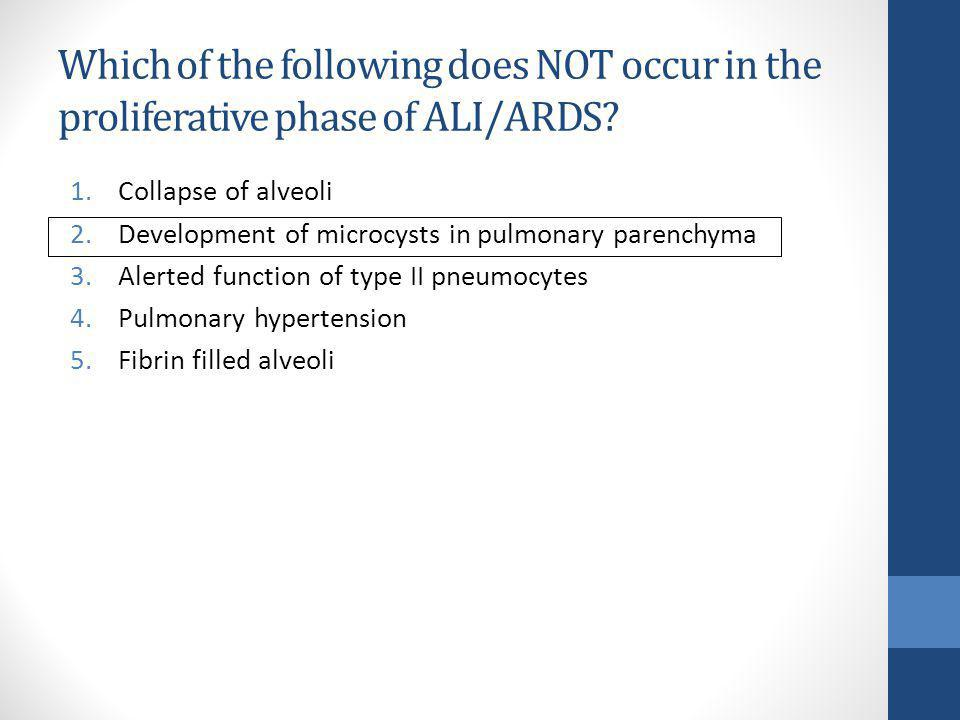 Which of the following does NOT occur in the proliferative phase of ALI/ARDS