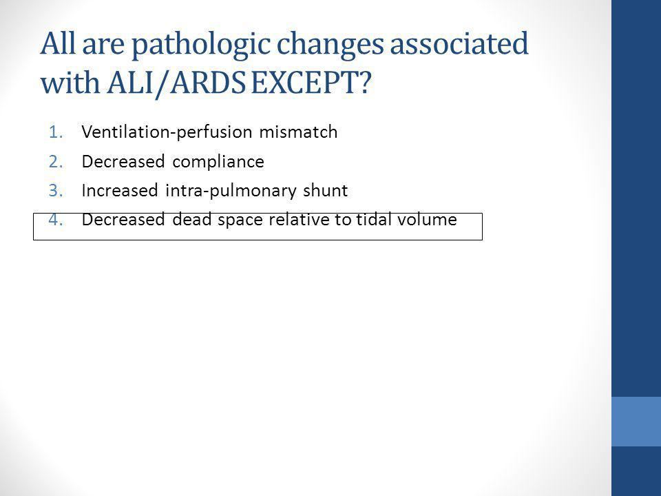 All are pathologic changes associated with ALI/ARDS EXCEPT