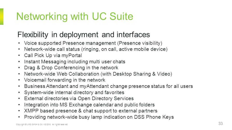 Networking with UC Suite