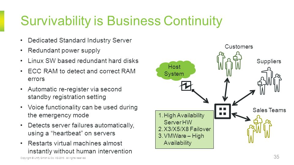 Survivability is Business Continuity