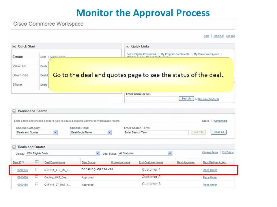 Monitor the Approval Process