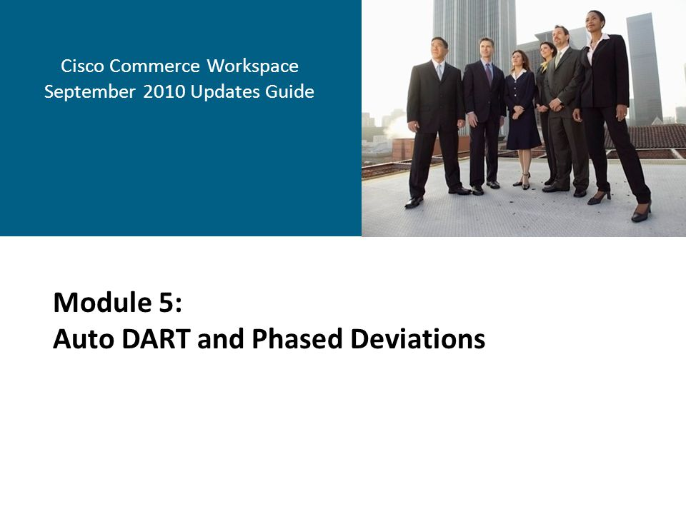 Cisco Commerce Workspace September 2010 Updates Guide
