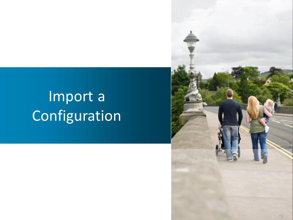 Import a Configuration