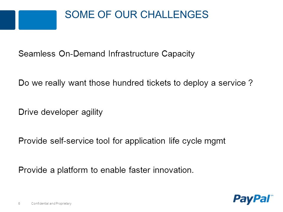 Some of our Challenges Seamless On-Demand Infrastructure Capacity