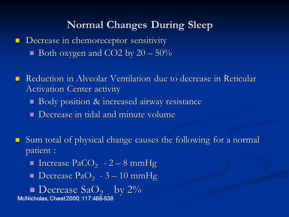 Normal Changes During Sleep