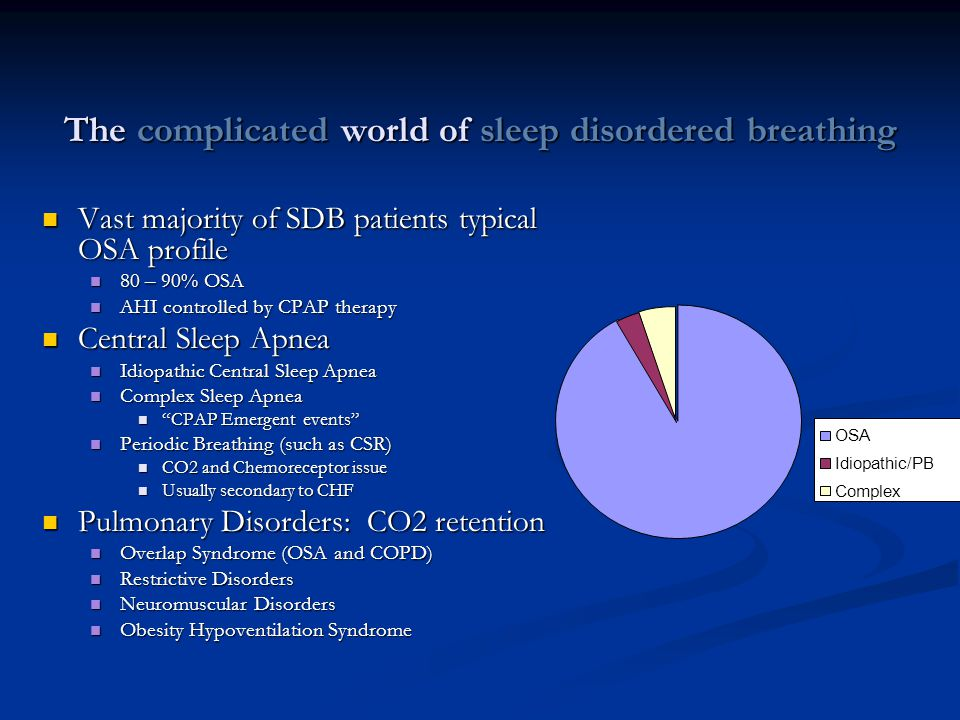 The complicated world of sleep disordered breathing