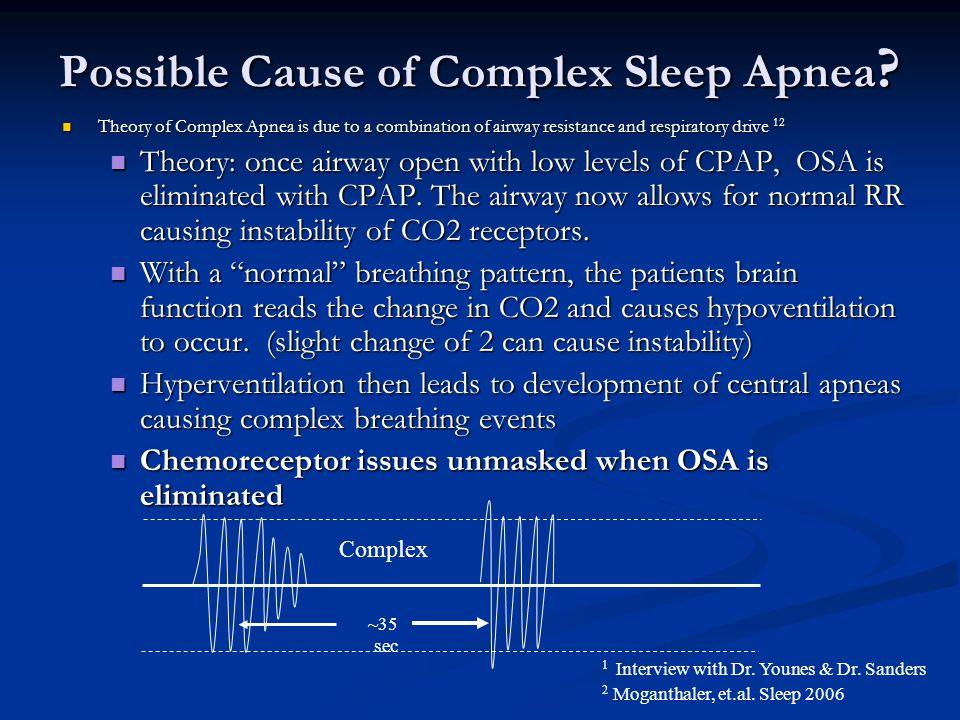 Possible Cause of Complex Sleep Apnea