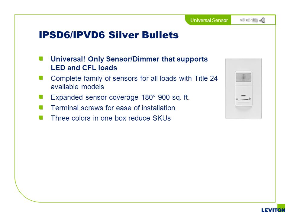 IPSD6/IPVD6 Silver Bullets