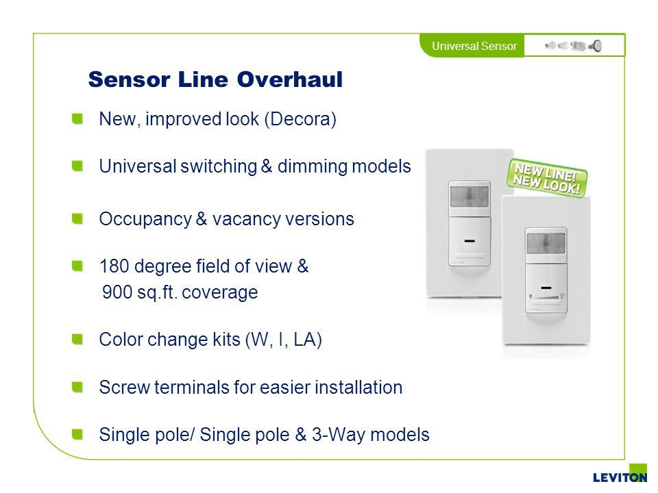 Sensor Line Overhaul New, improved look (Decora)