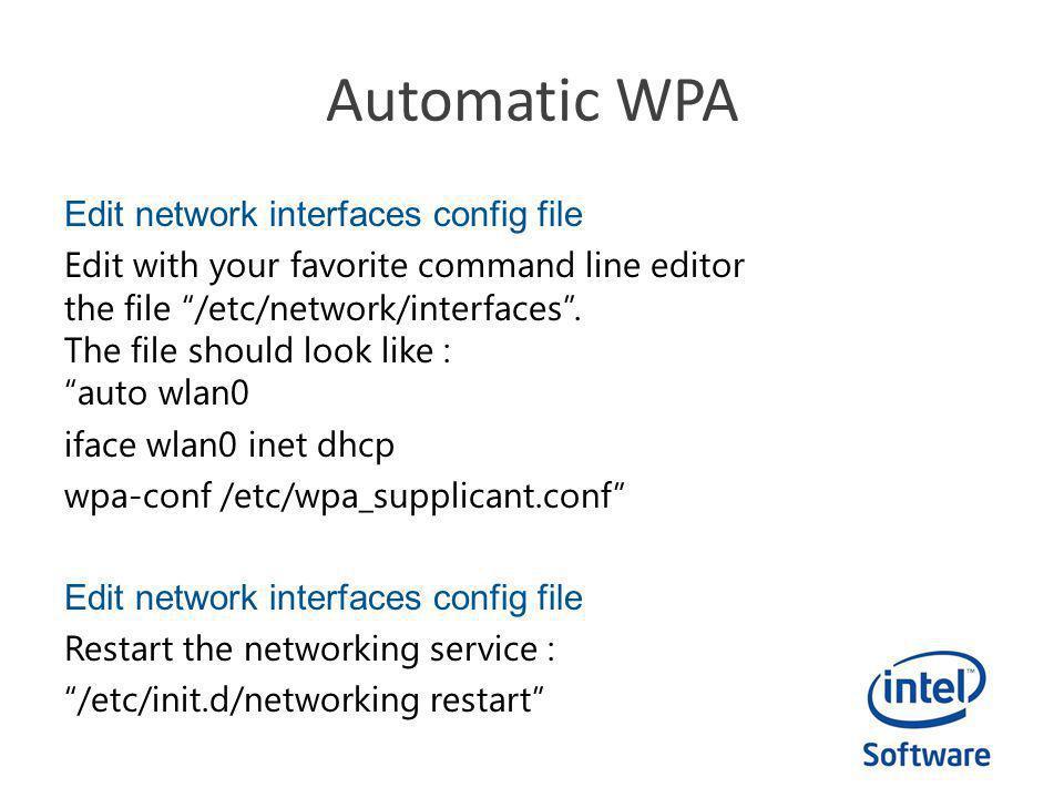 Automatic WPA
