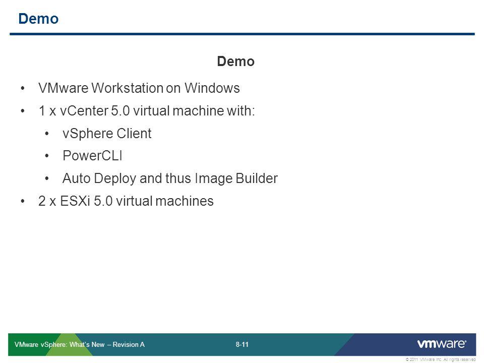 Demo Demo VMware Workstation on Windows