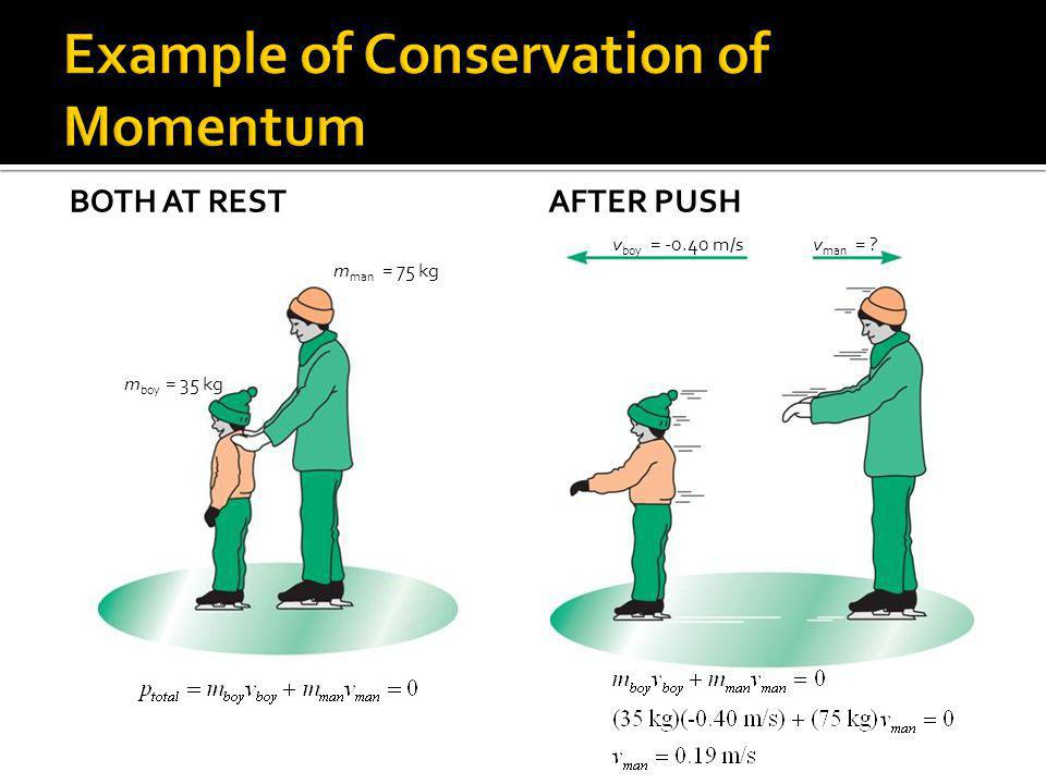 Example of Conservation of Momentum