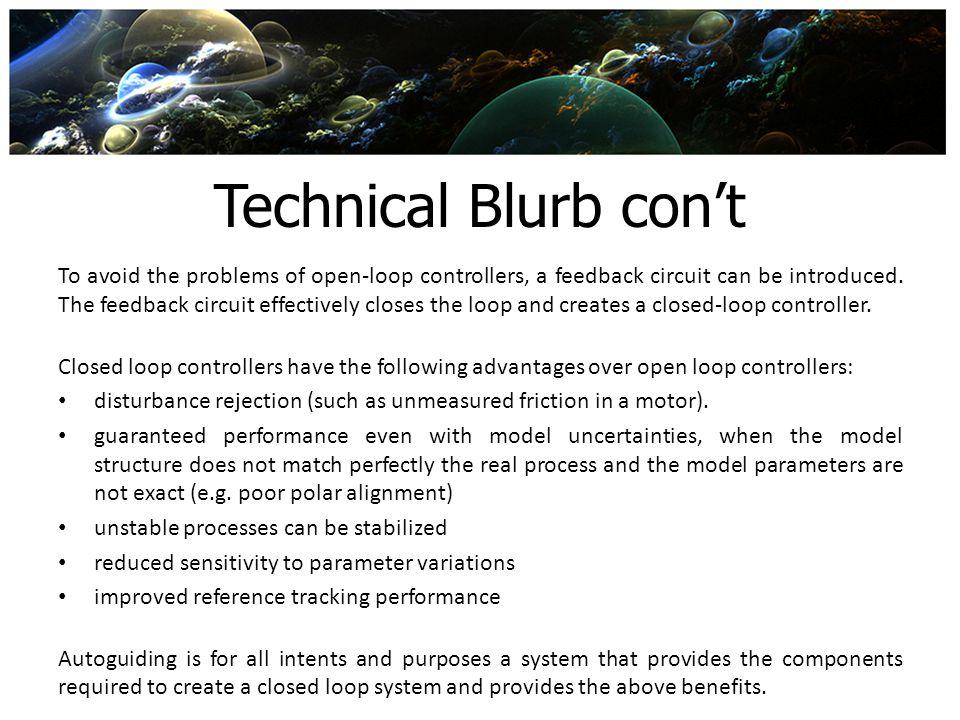 Technical Blurb con't