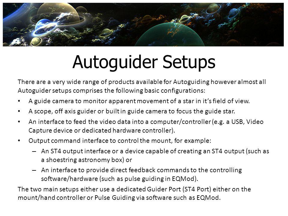 Autoguider Setups