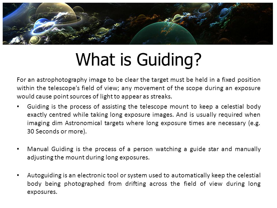 What is Guiding