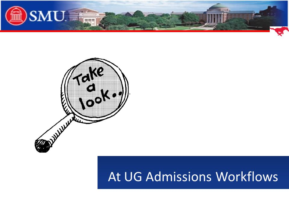 At UG Admissions Workflows