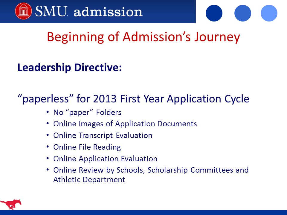 Beginning of Admission's Journey