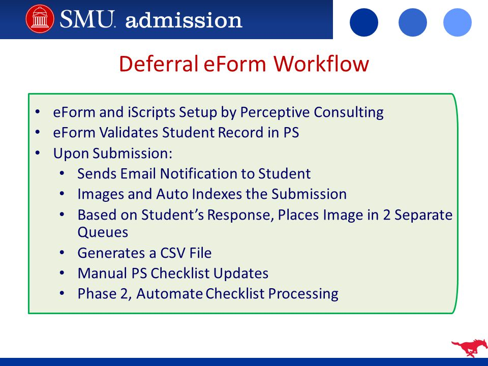 Deferral eForm Workflow