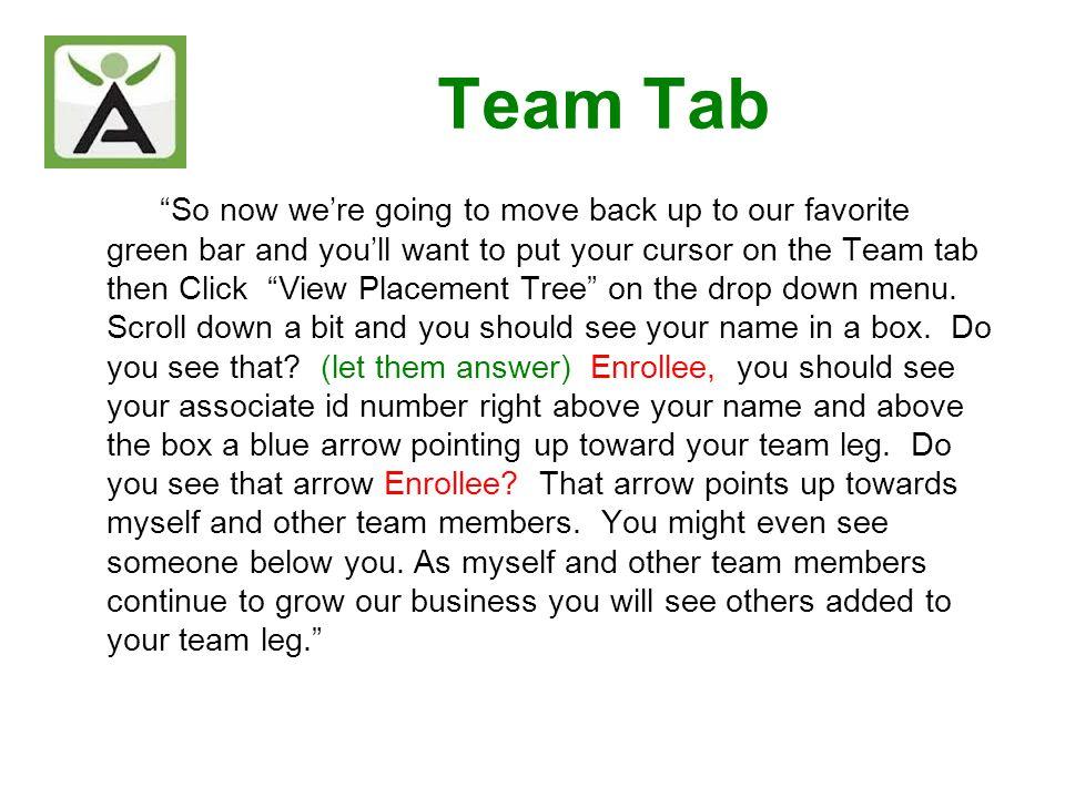 Team Tab