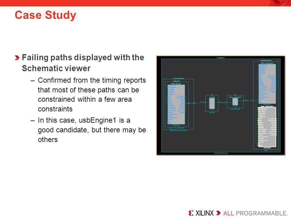 Case Study Failing paths displayed with the Schematic viewer