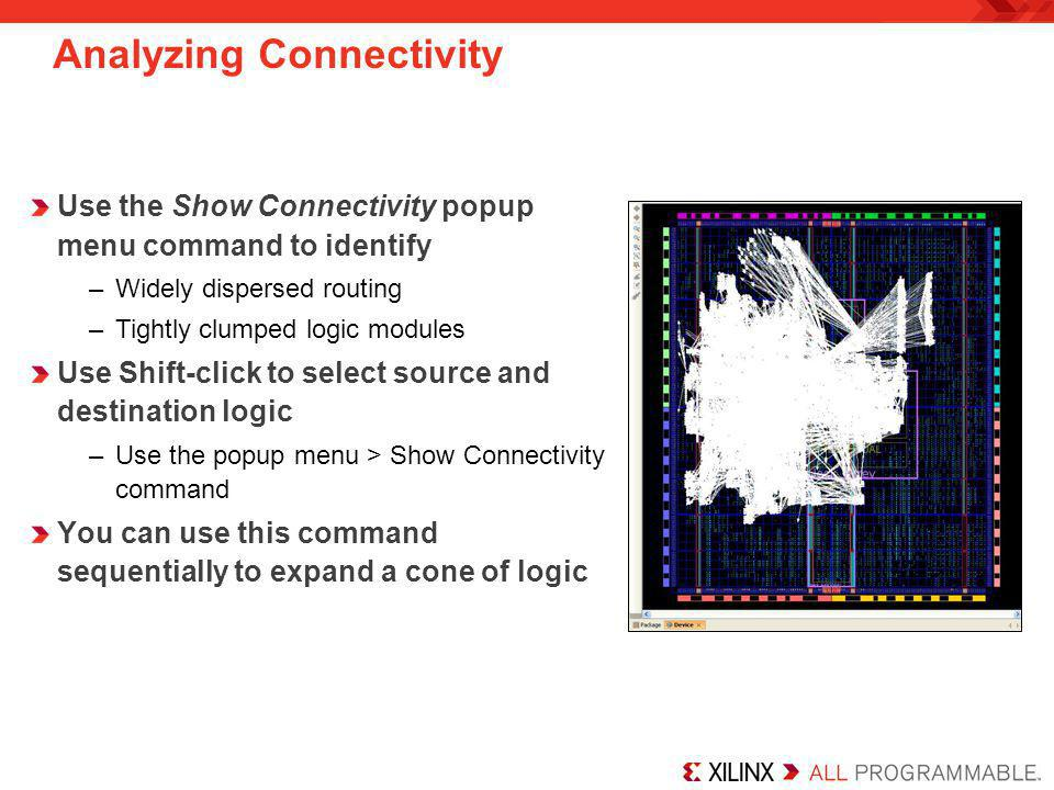 Analyzing Connectivity