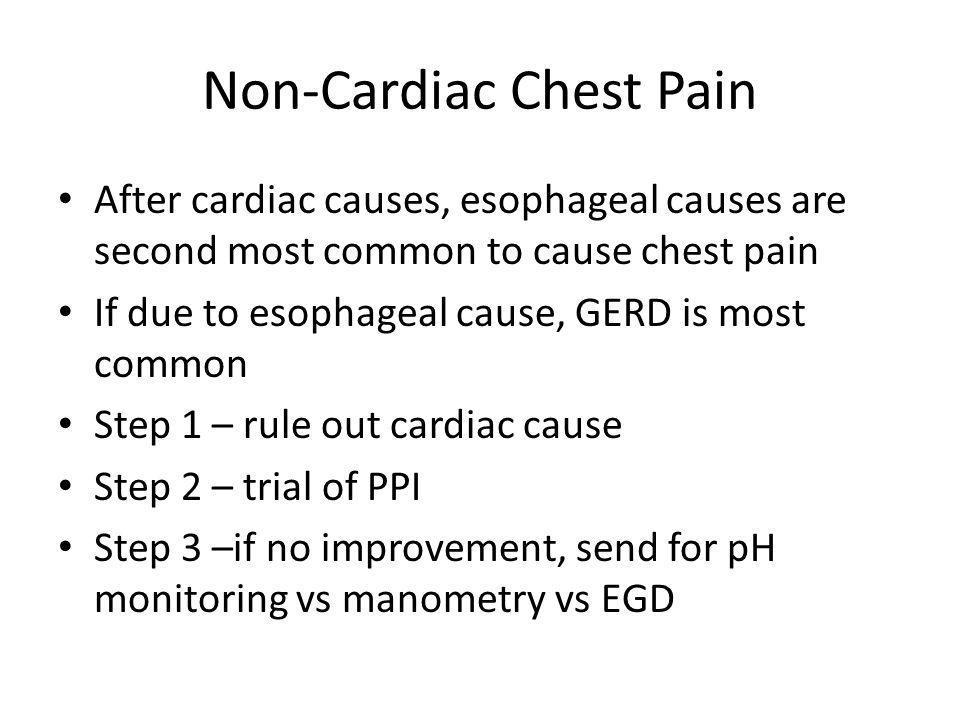 Non-Cardiac Chest Pain